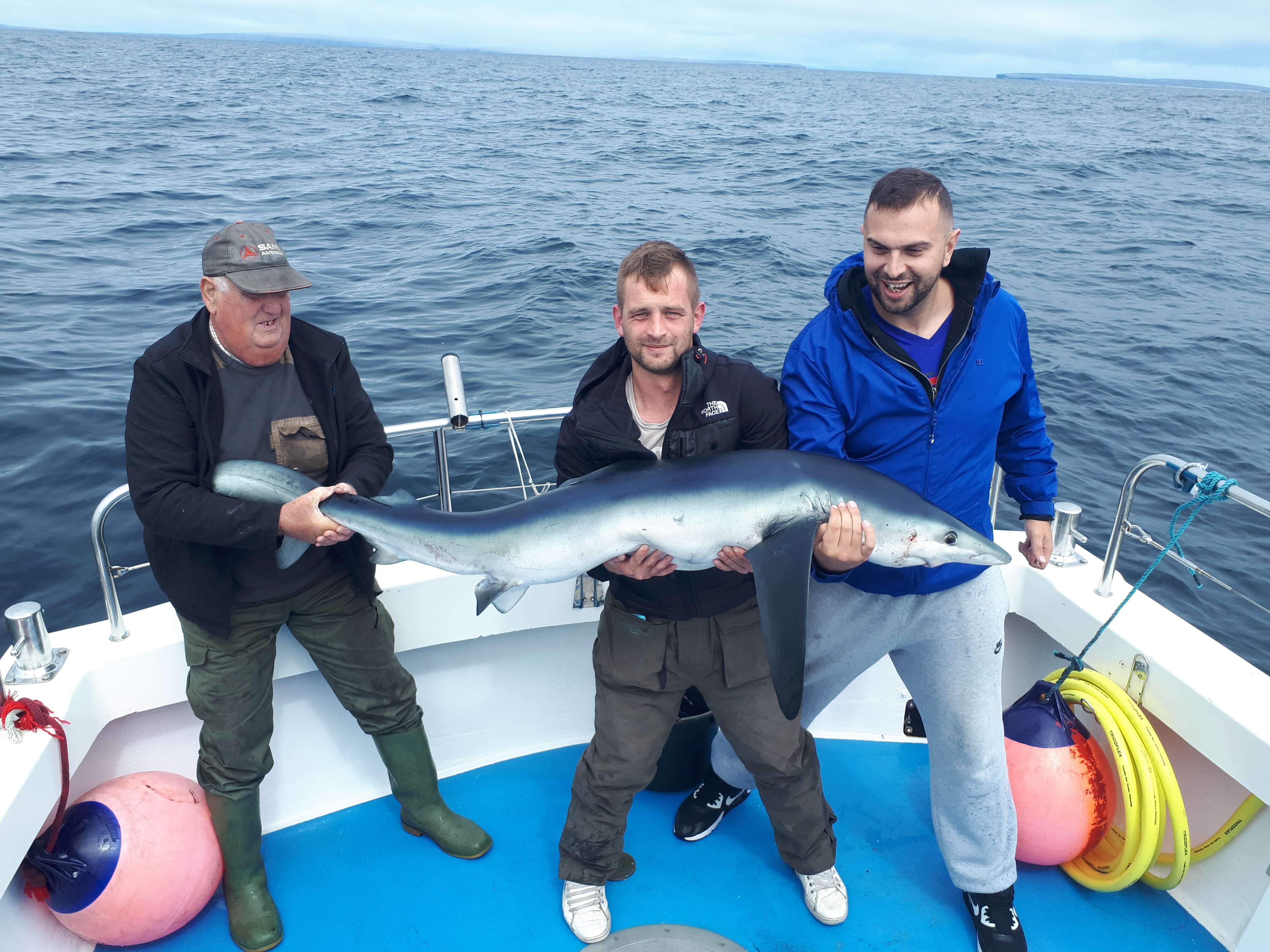 Declan Murphy avec un très beau poisson de 34,02kg