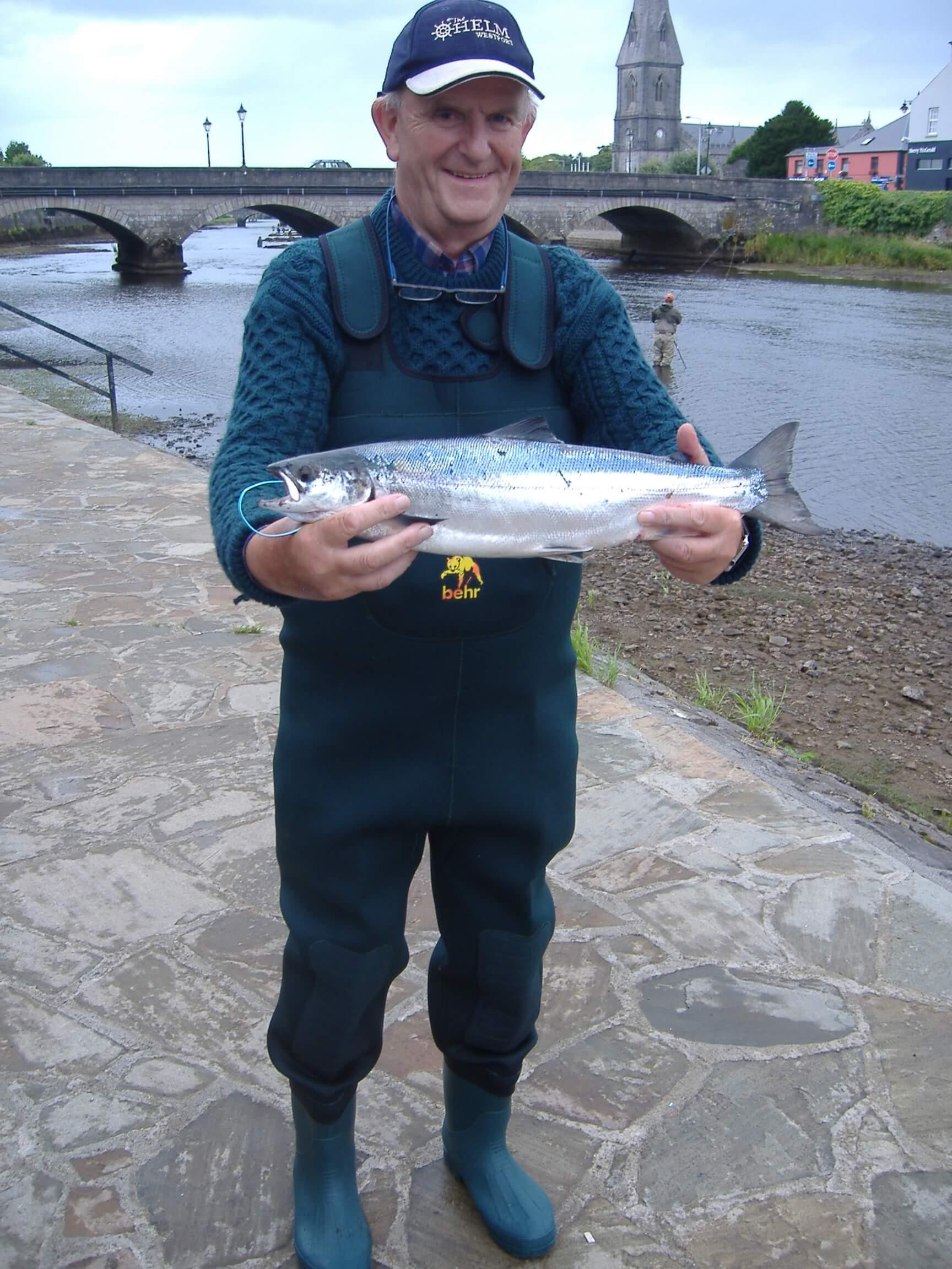 Jasper Coyle (Dublin) a attrapé son premier saumo