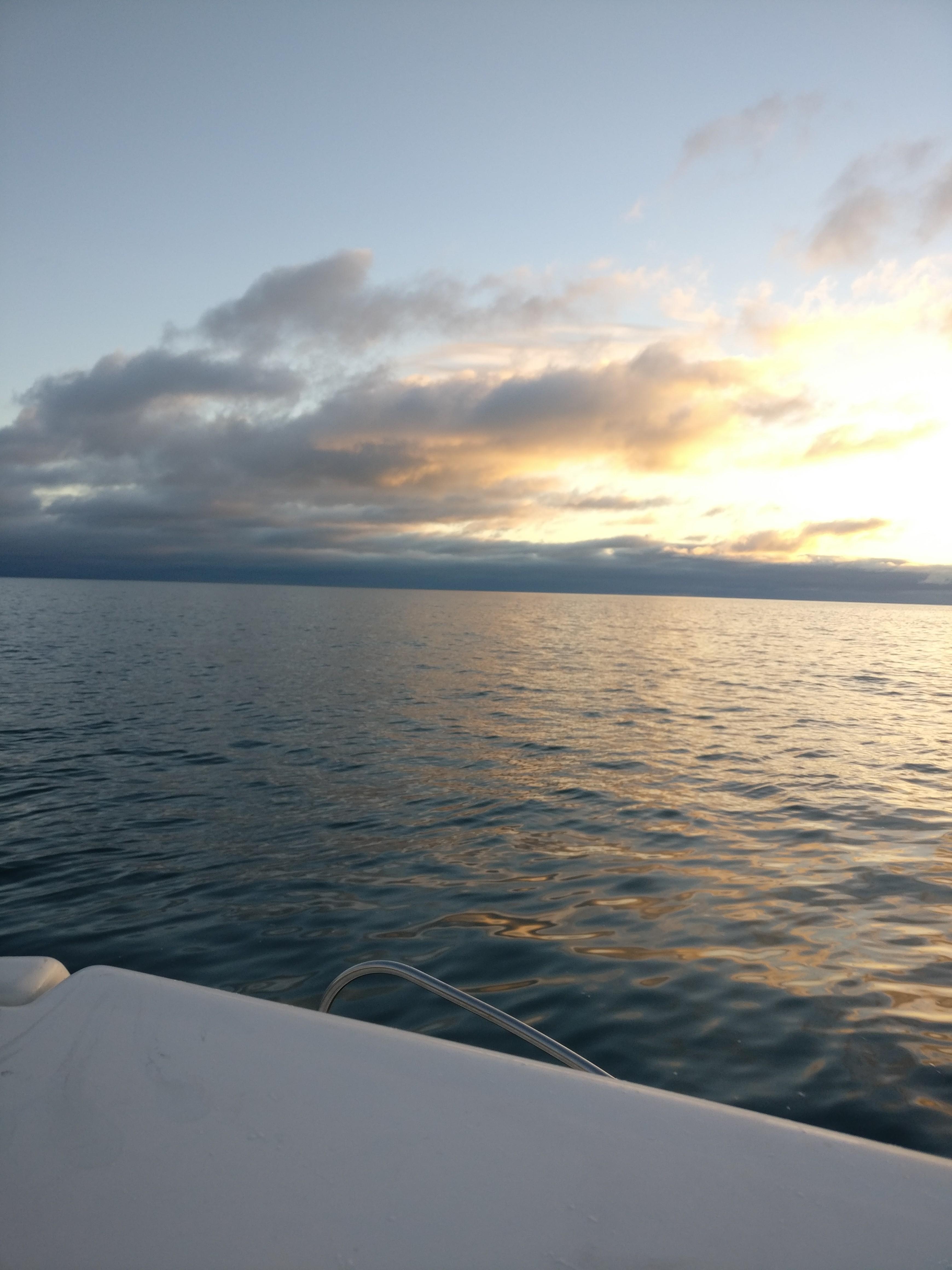 Lever du Soleil sur La Mer d'Irlande