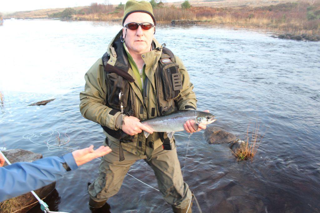 Michael McCann sur la rivière Lackagh