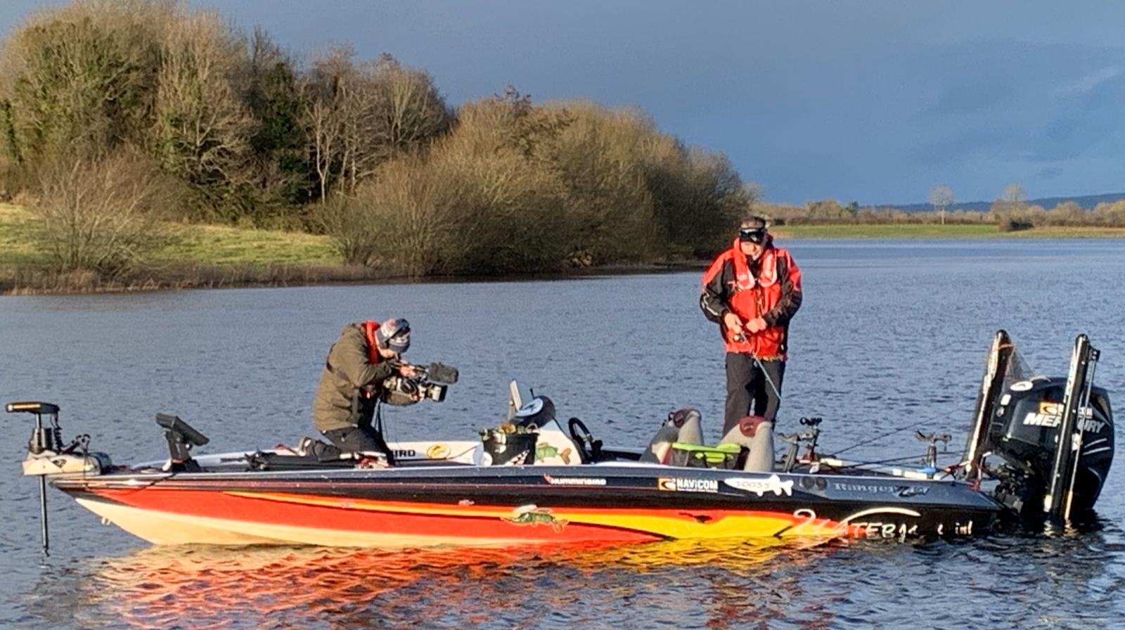 Pascal et son nouveau bass boat sur le Lough Erne
