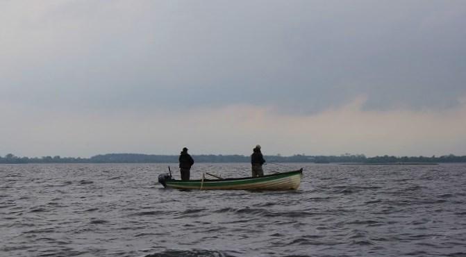 Des vents froids du nord-est ont soufflé sur le Lough Sheelin pendant plusieurs jours cette semaine.