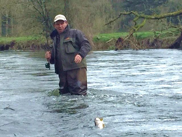 La première truite de la saison sur la rivière Kings
