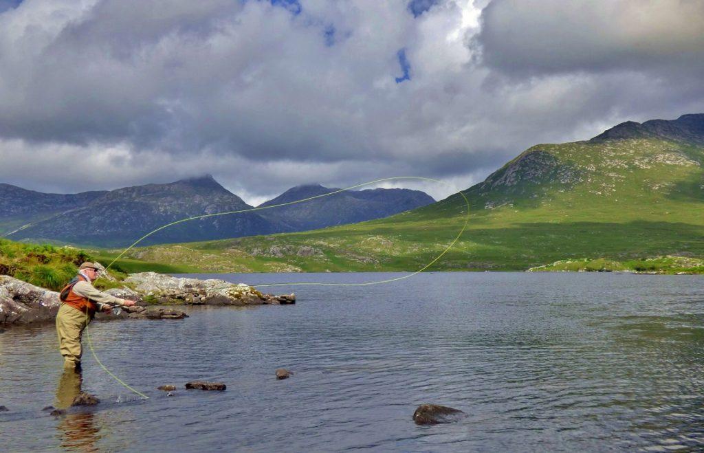 A la pêche dans un paysage magnifique