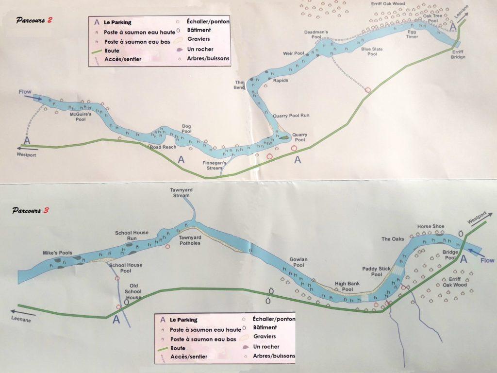 La rivière Erriff, parcours de pêche 2 et