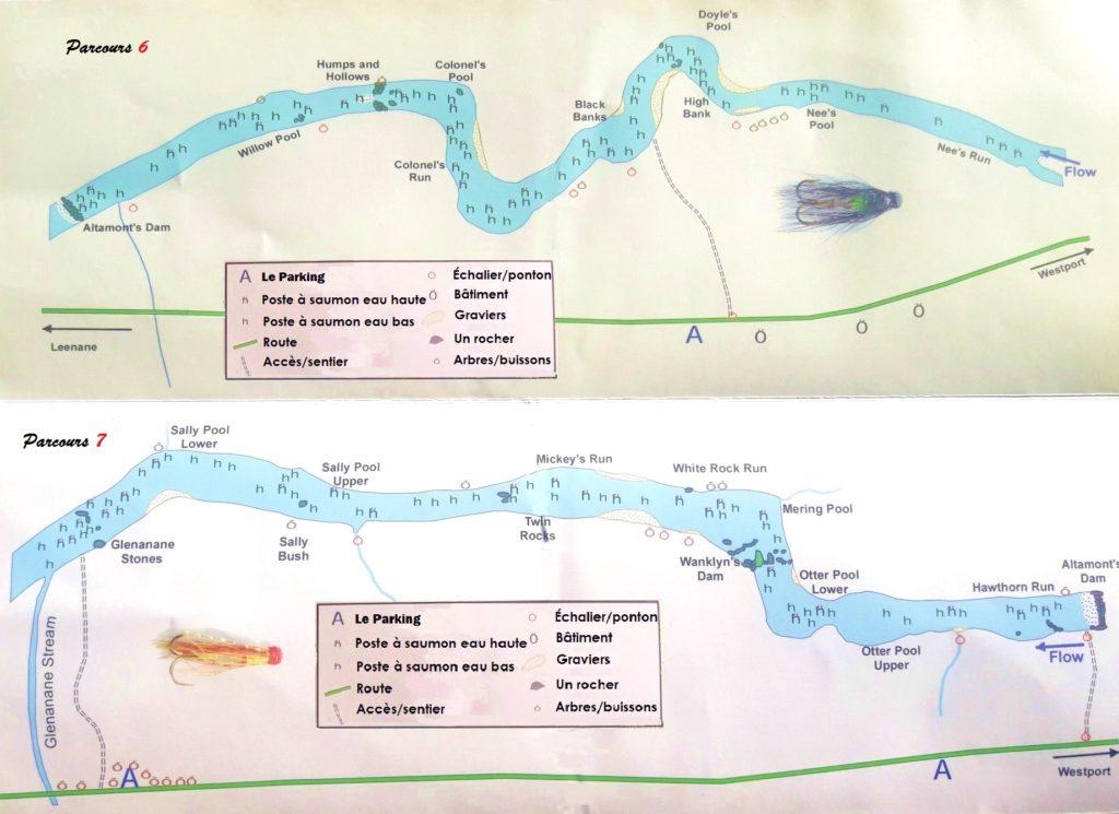 La rivière Erriff, parcours de pêche 6 et 7