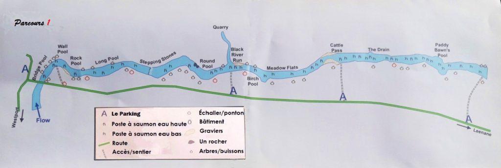 La rivière Erriff, parcours de pêche 1