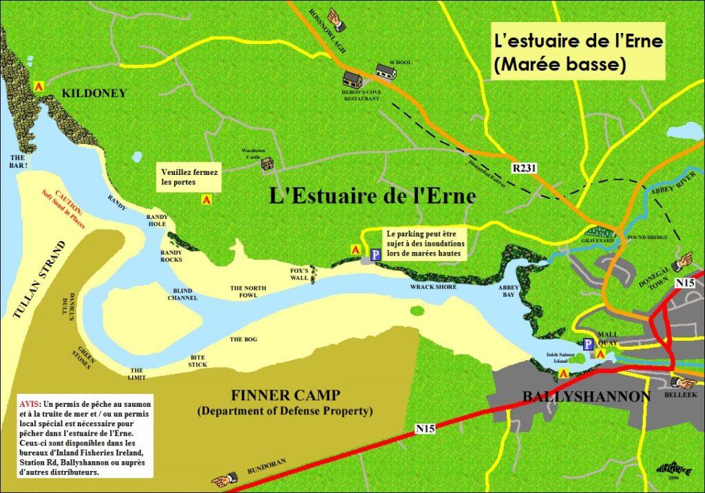 L'estuaire de l'Erne Carte