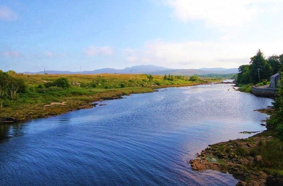 La rivière Lackagh prés de la baie de Sheephaven