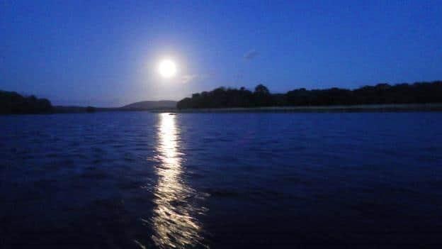 Le soir sur le Lough Sheelin