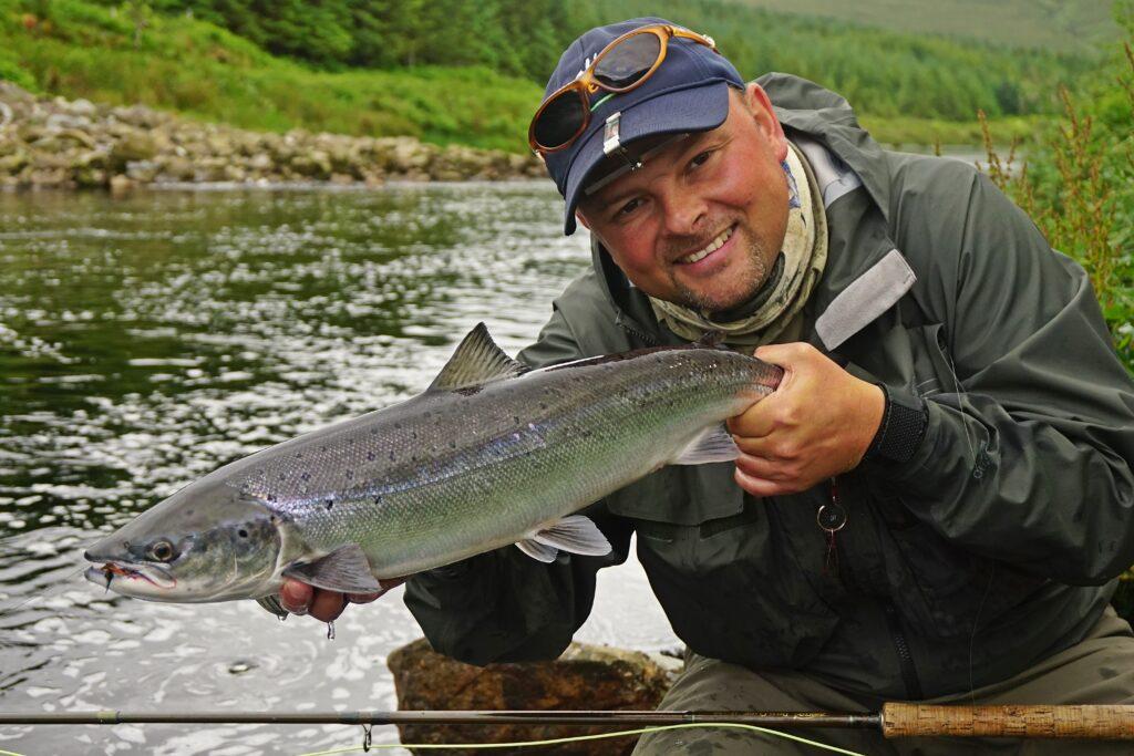 La pêche du saumon en Irlande, la rivière Owenmore