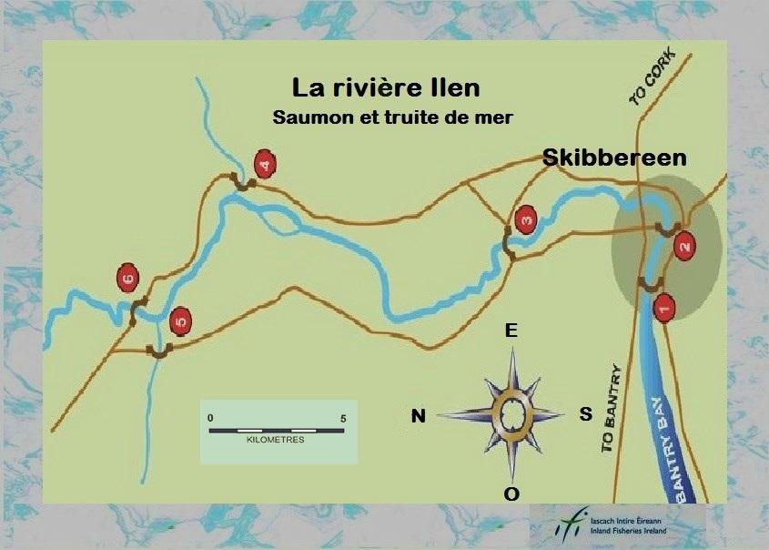 La rivière Ilen au sud du pays