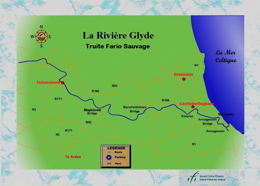 la pêche de la truite en Irlande, la rivière Glyde.