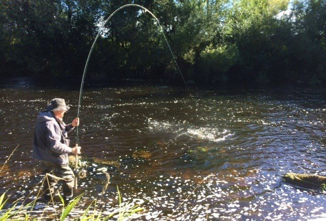 La pêche du saumon sur la rivière Nore en Irlande.