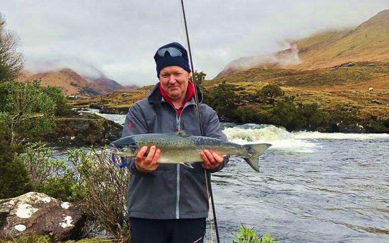 Premier saumon pour David McEvoy à Delphi Lodge