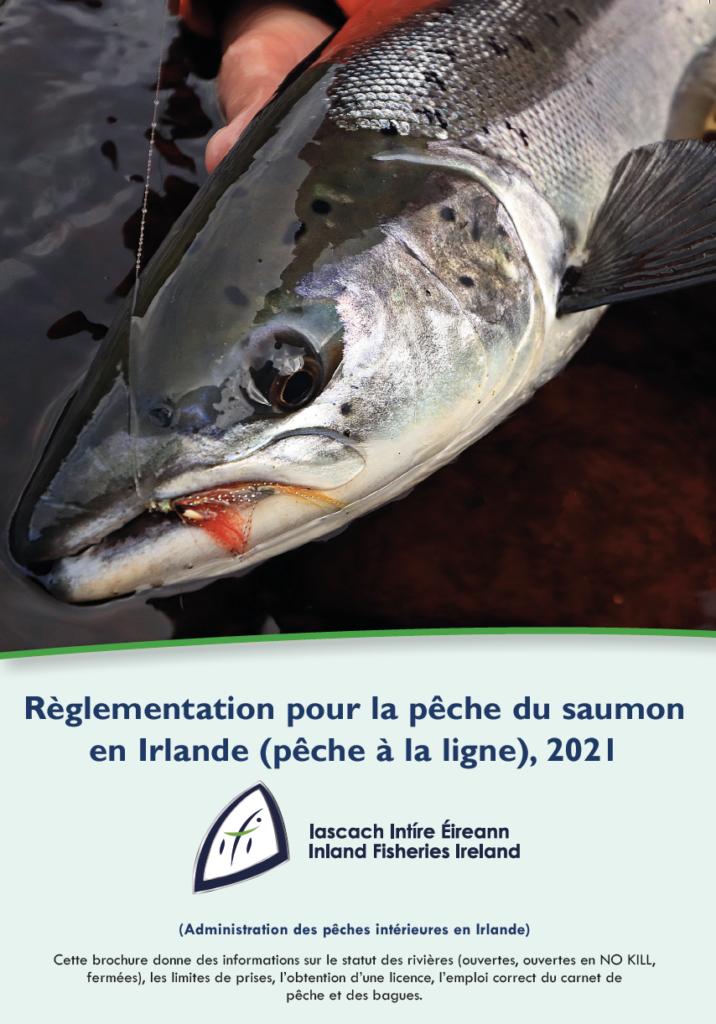 Téléchargez la brochure ICI. Les réglementations pour la pêche du saumon en Irlande 2021