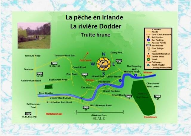 la rivière Dodder Dublin, Irlande