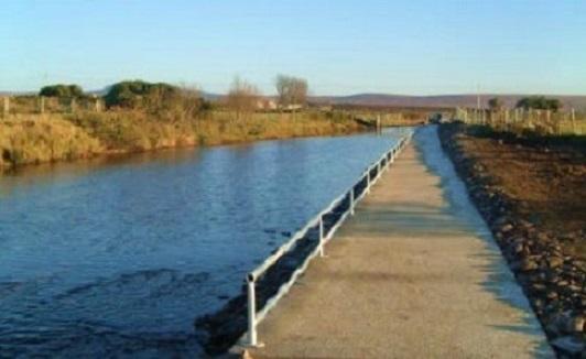 Les facilités pour les pêcheurs a mobilité réduite, rivière Glenamoy Irlande