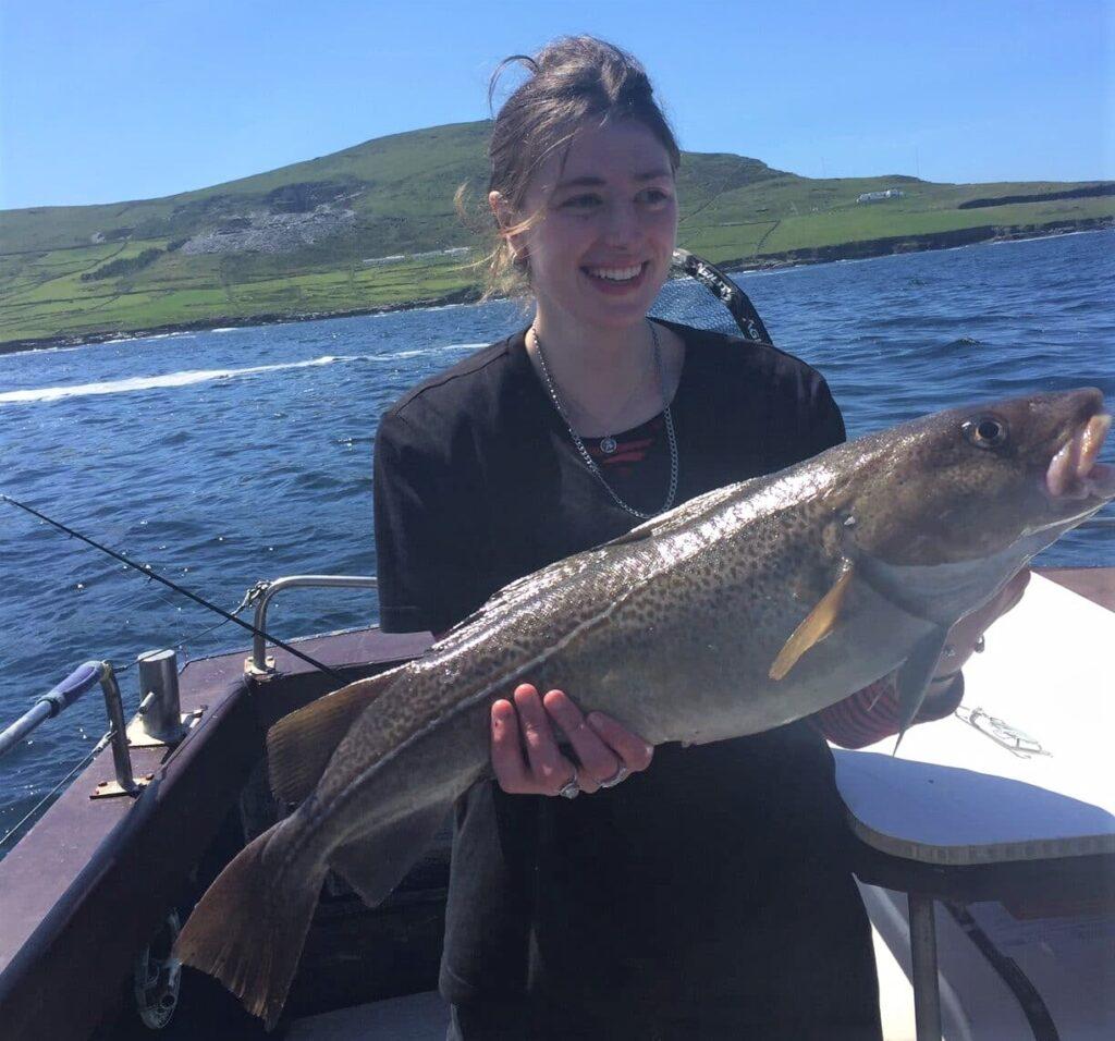 Un autre belle prise a la pêche en mer au large dans le Kerry.