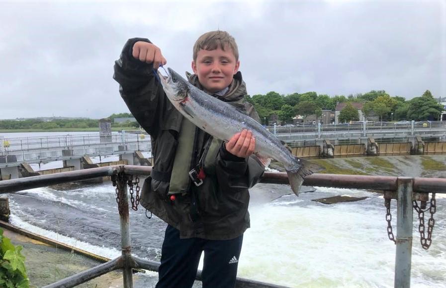 La pêcherie de Galway sur la rivière Corrib au centre ville de Galway